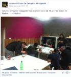 Madrid gente trabajando en el curso